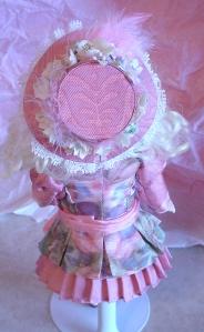 Silk Scarf Doll Dress Back